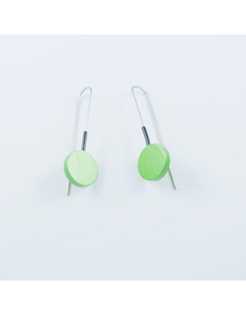 Modern Earrings Green
