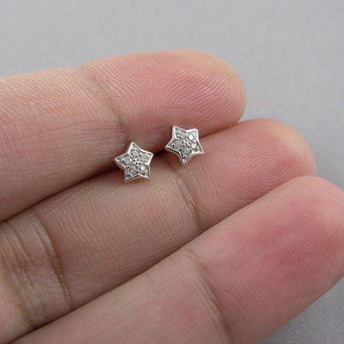 LAVI Zirconia Star Ear Studs Silver