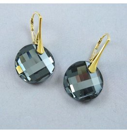 LAVI Swarovski Elements Earrings - Silver night