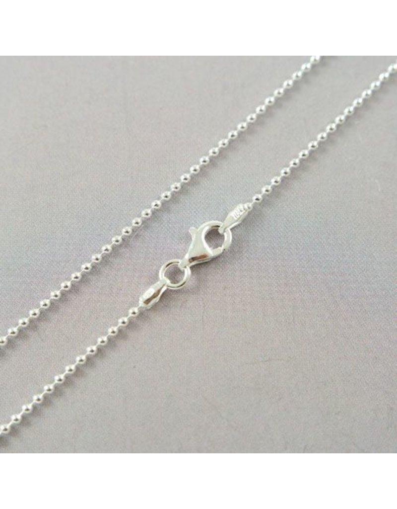 LAVI 60cm Silver Ball chain