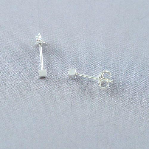 LAVI Sterling Silver Block Earrings
