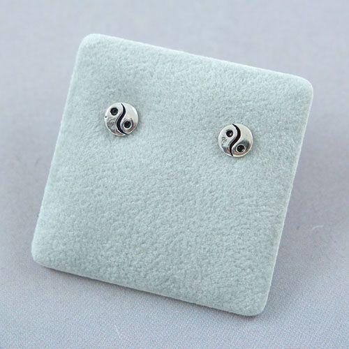 LAVI Yin Yang Earrings Studs - Sterling Silver