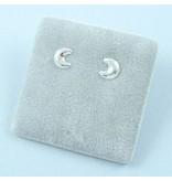 LAVI Moon Stud Earrings - Sterling silver