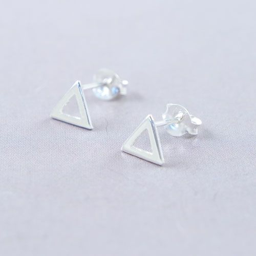Lavi Sterling Silver Triangle Ear Studs