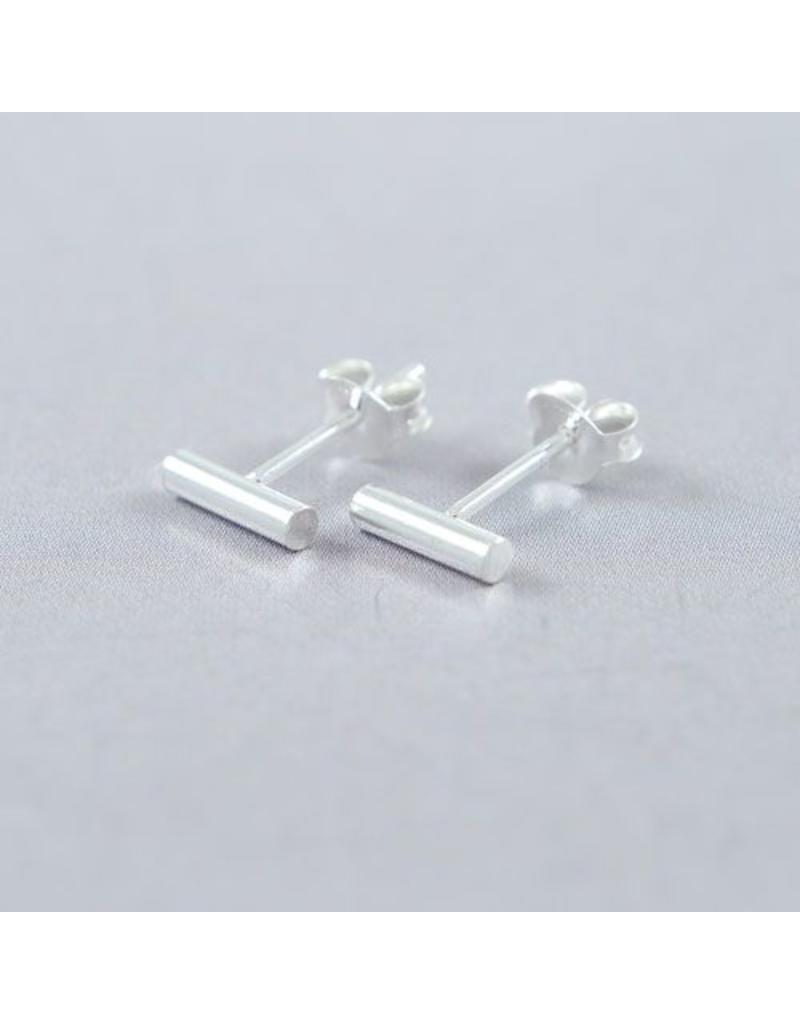 LAVI Sterling Silver Bar Stud Earrings