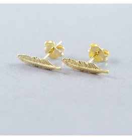 LAVI Feather Ear Studs Gold plated