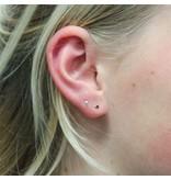LAVI Tiny Onyx Triangle Ear Studs - Copy