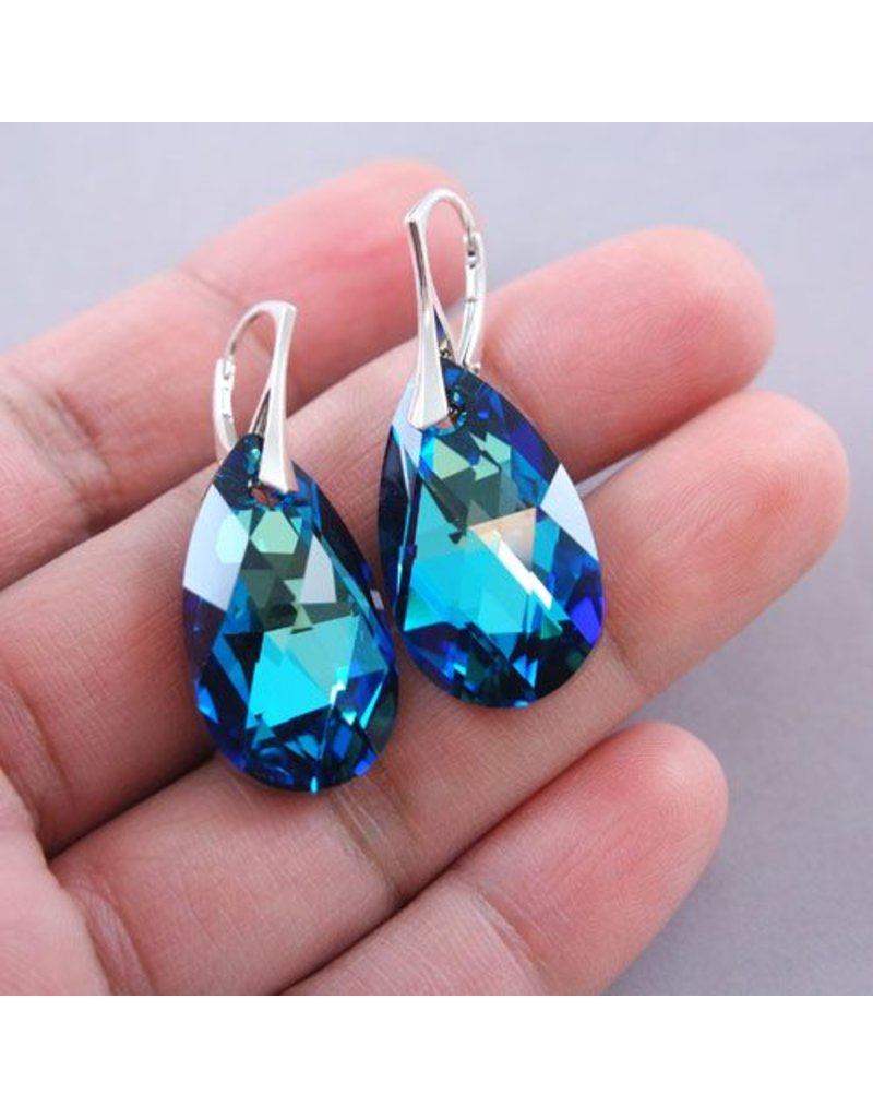LAVI Swarovski Elements Earrings - Bermuda Blue