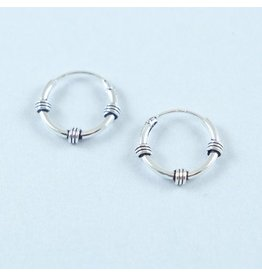 LAVI Sterling Silver Bali Earrings 12mm