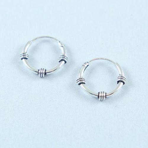 LAVI Sterling Silver Bali Earrings 12mm