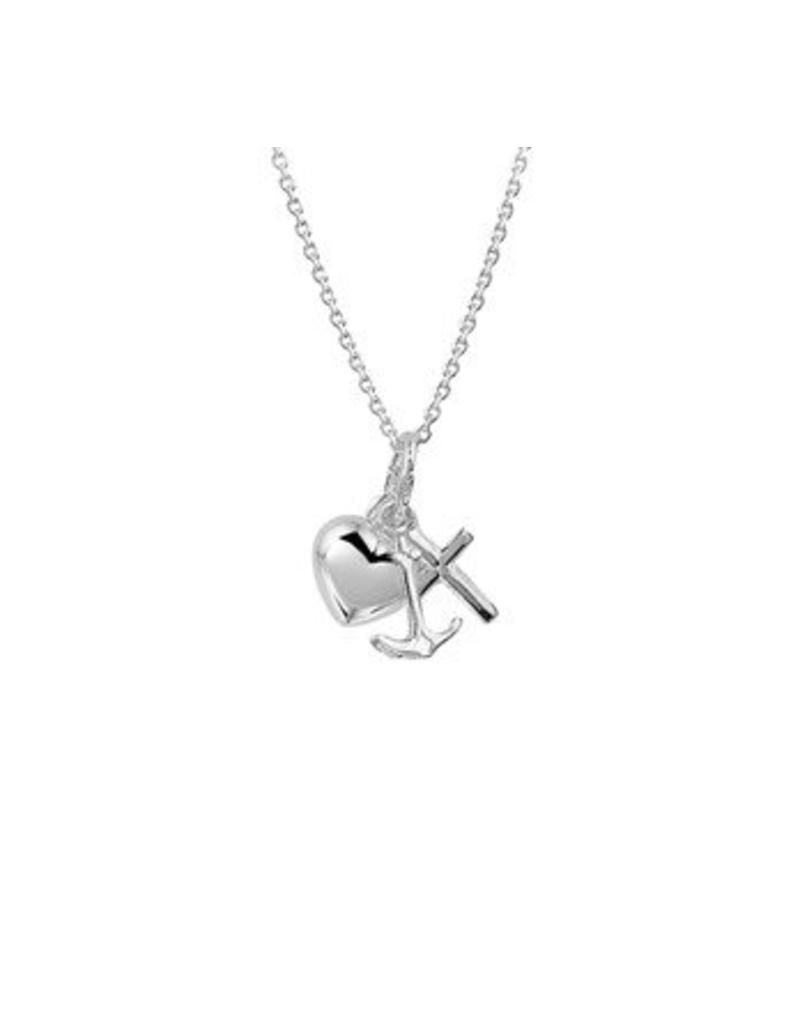 LAVI Sterling Silver Hope Faith Love Necklace