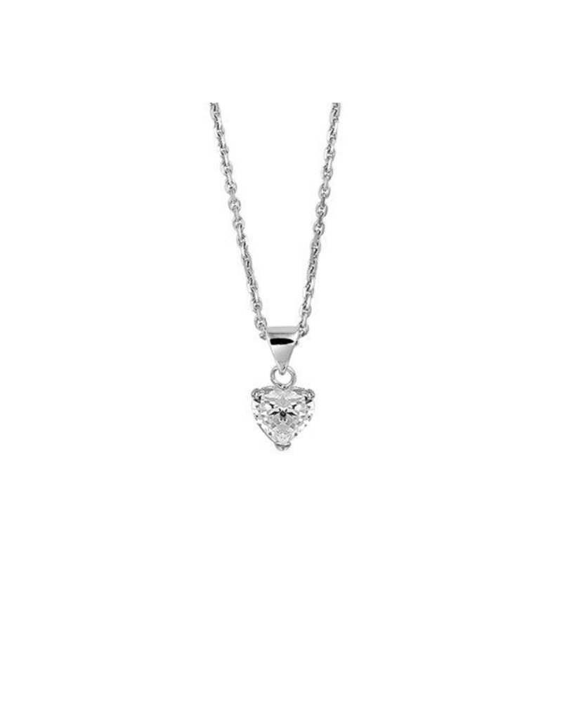 LAVI Sterling Silver Zirconia Heart Necklace
