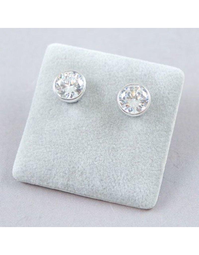 LAVI Zirconia Ear Studs Silver
