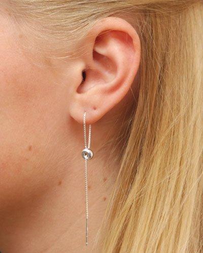 LAVI Pull through earrings Silver