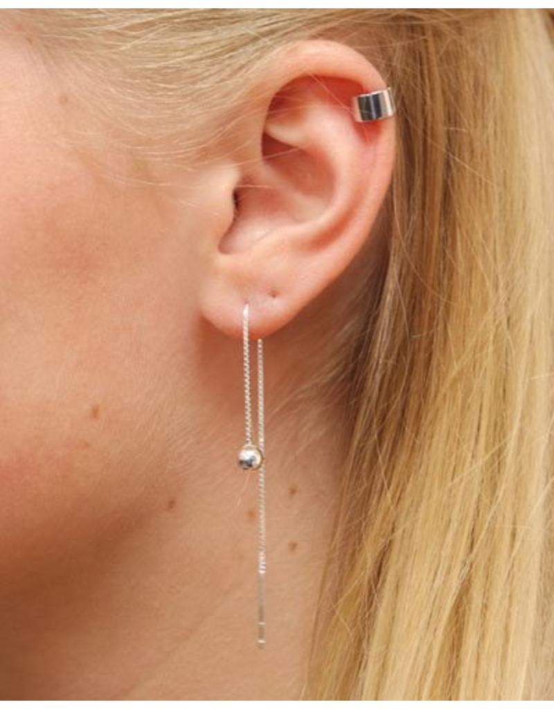 LAVI Pull through earrings Silver Ball