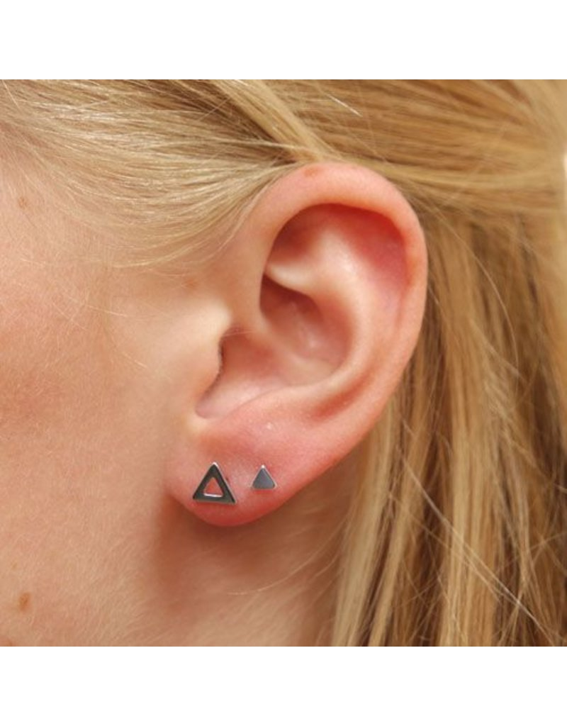 LAVI Open Sterling Silver Triangle Ear Studs