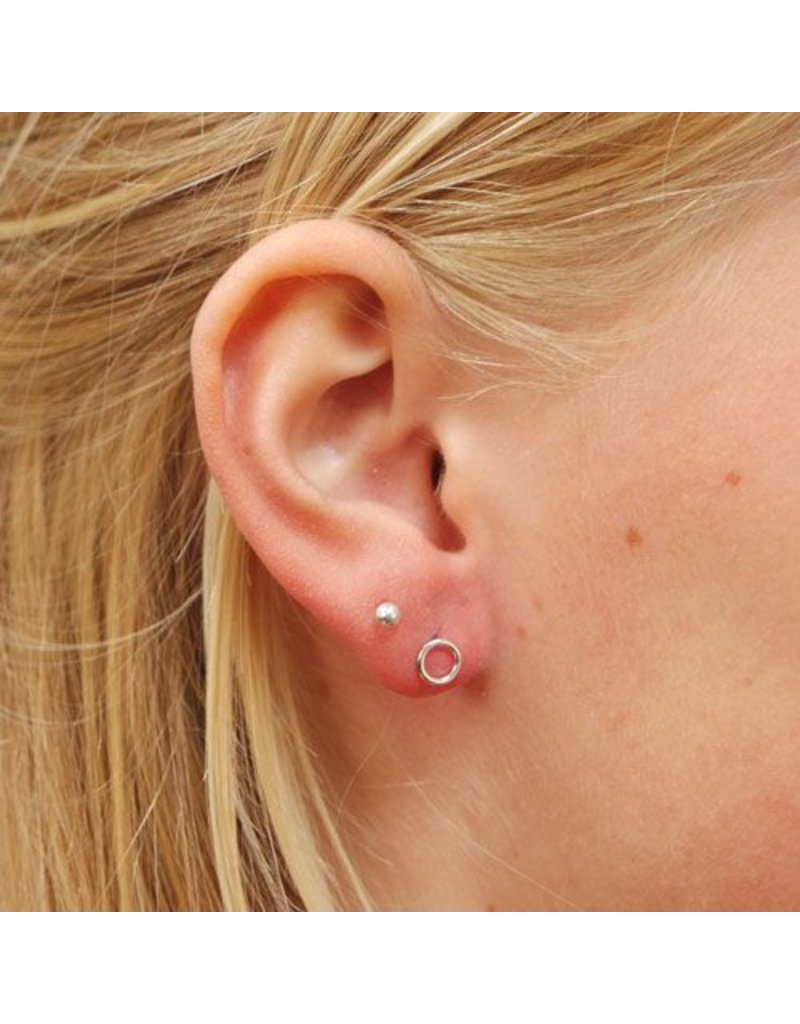 LAVI Sterling Silver Round Ear Studs