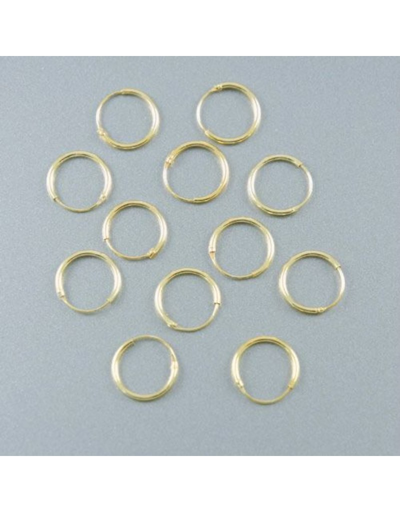 LAVI Gold Hoop Earrings - 12mm