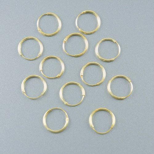 LAVI Gold Hoop Earrings - 12mm