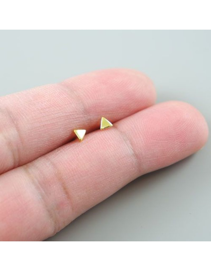 LAVI Golden  Mini Triangle Ear Studs