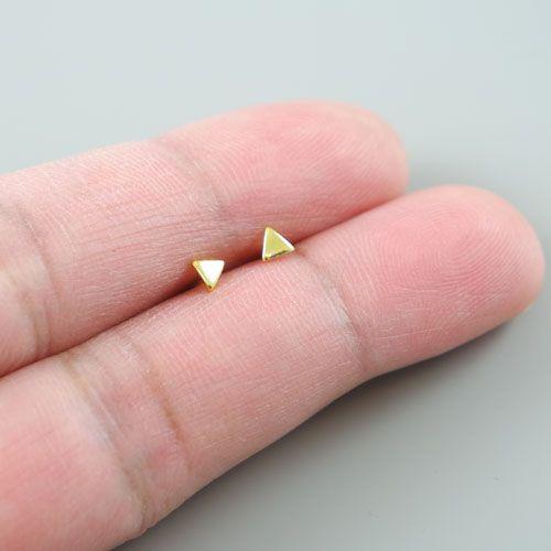LAVI Golden  Mini Triangle Ear Studs