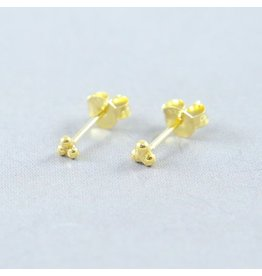 LAVI 3 dots Ear Studs - Gold