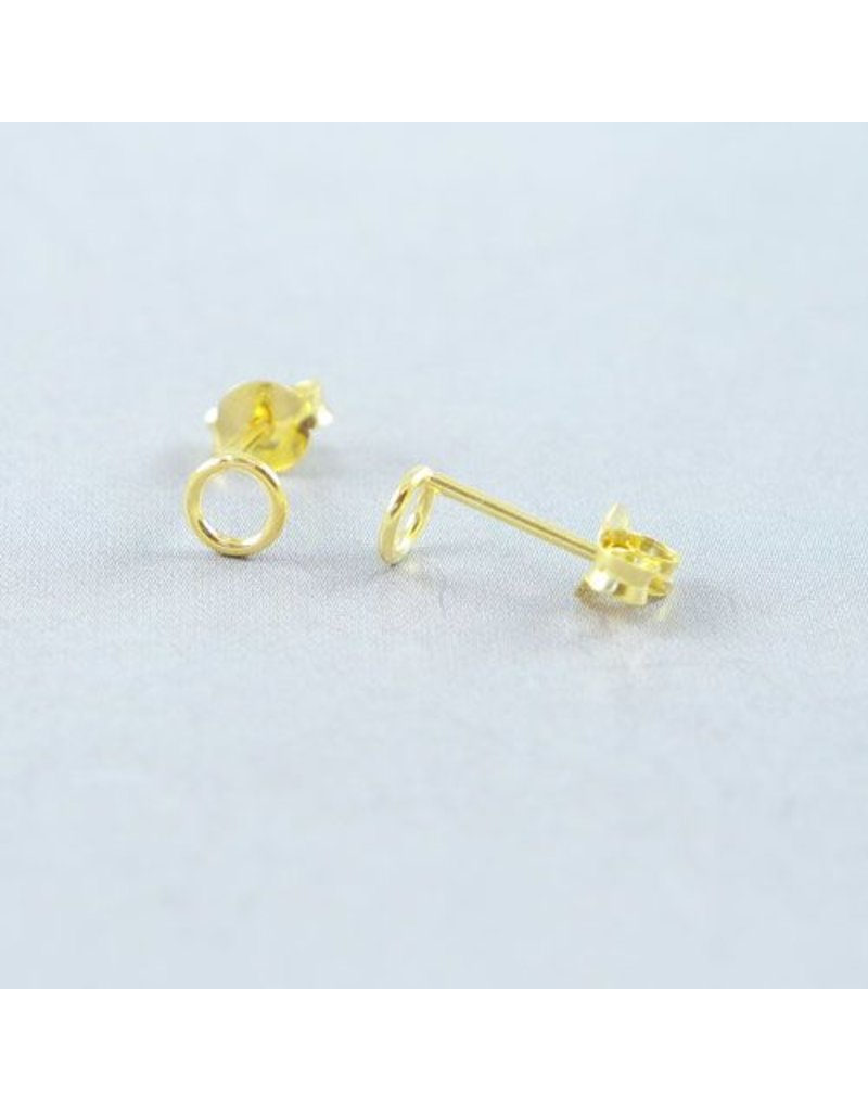 LAVI Open Circle Earrings - Gold