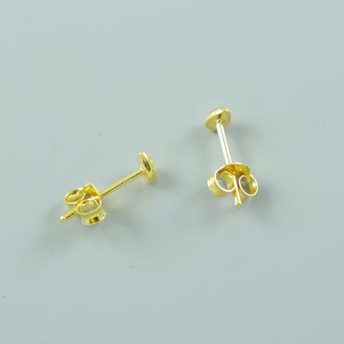 LAVI Sterling Silver Drop Ear Studs Gold