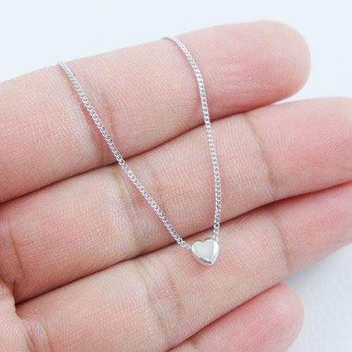 LAVI Gerhodineerd zilveren collier met een Hart