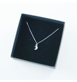 LAVI Sterling Silver Half Moon Necklace