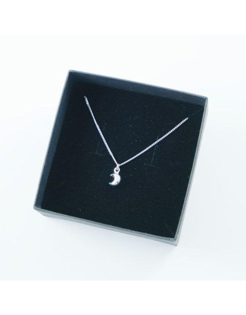 LAVI Sterling Silver Half Moon Necklace