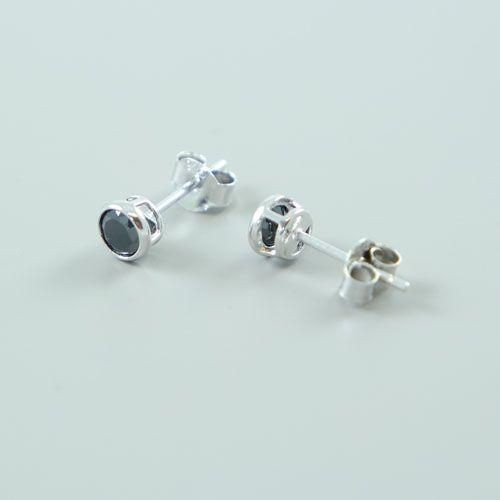 LAVI Black Zirconia Stud Earrings
