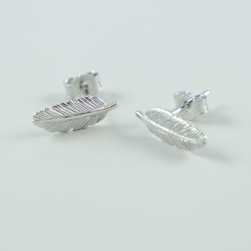 LAVI Sterling Silver Feather Stud Earrings