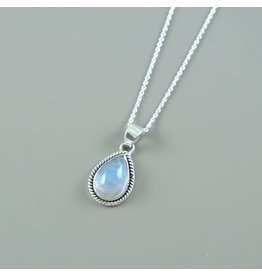 LAVI Sterling Silver Moonstone Drop Necklace