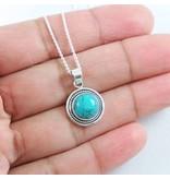 LAVI Turquoise Ketting  Echt Zilver