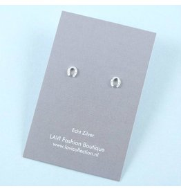 LAVI Sterling Silver Horseshoe Stud Earrings
