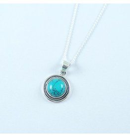 LAVI Sterling Silver Turquoise Pendant