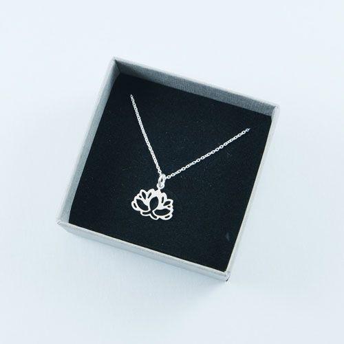 LAVI Silver Lotus Necklace