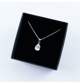 LAVI Sterling Silver Zirconia Drop Necklace