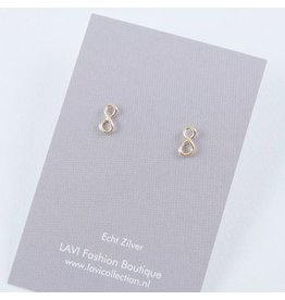 LAVI Gold plated Infinity Ear Studs