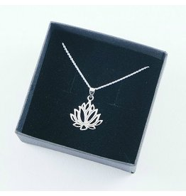 LAVI Silver Lotus Necklace