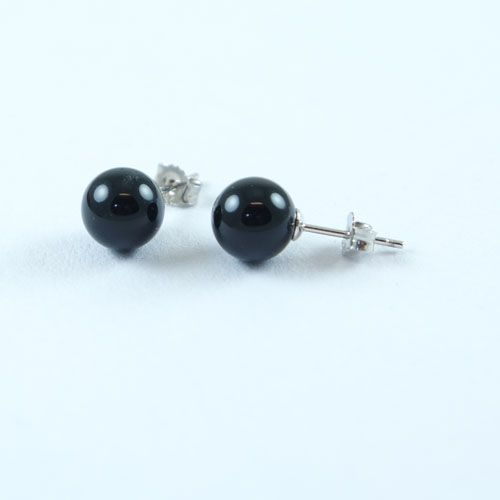 LAVI Onyx Ear Studs 8mm