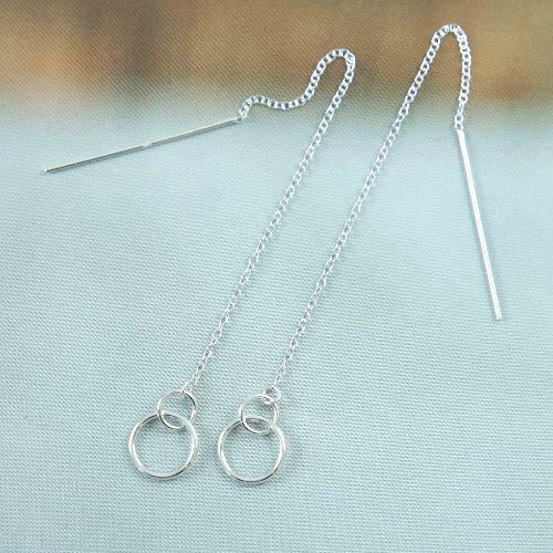 LAVI Pull through earrings Silver open circles