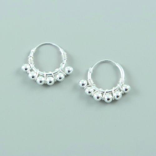 LAVI Sterling Silver Bali Earrings - 17mm