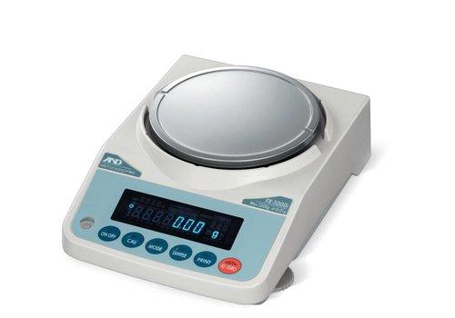 AND FX-200i-NVH max. 220 g. indeling 0,001g.