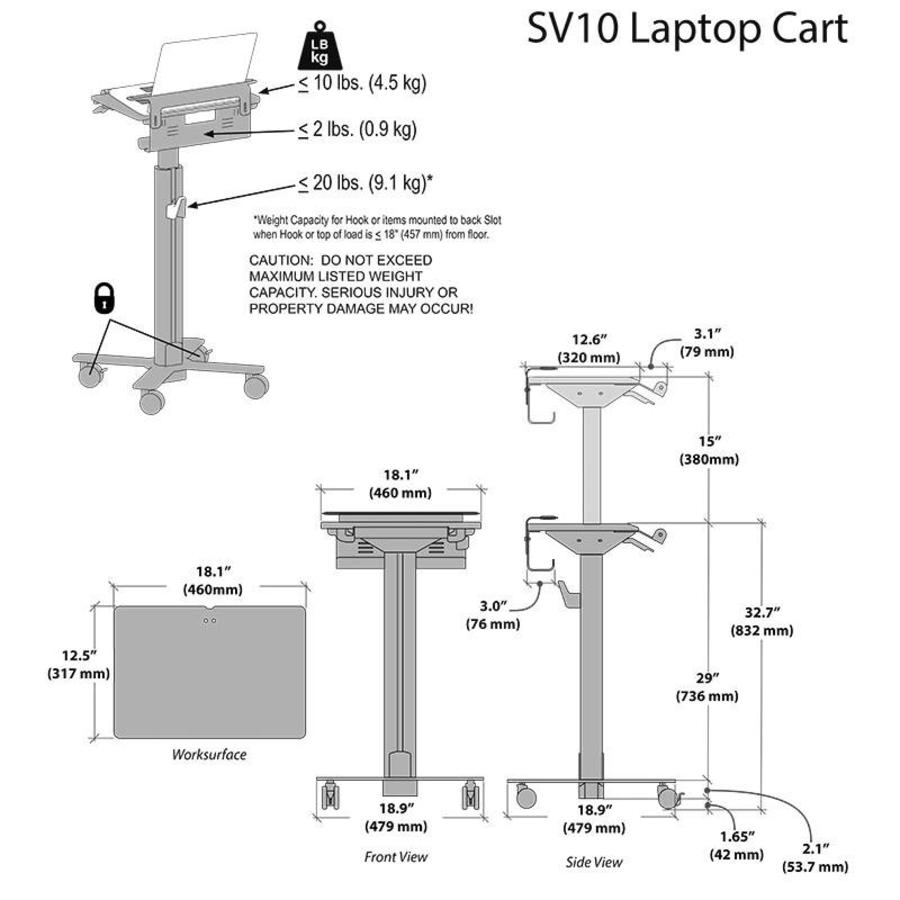 Laptop Cart SV10-1100-0