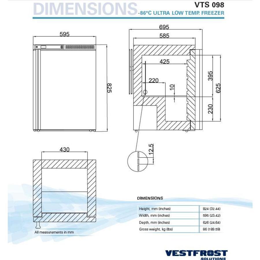 VTS 098 -86° ultra low temp. vriezer