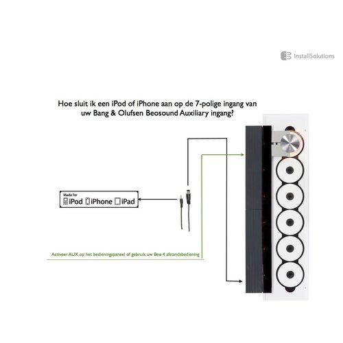 Bang & Olufsen iPod Mp3 kabel Cable 7pin DIN/JACK, 3m