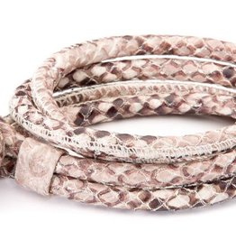 Joy de la Luz Joy de la Luz JB111rr leather knot king python medium