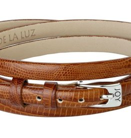 Joy de la Luz Joy de la Luz JB403 buckle lizard camel